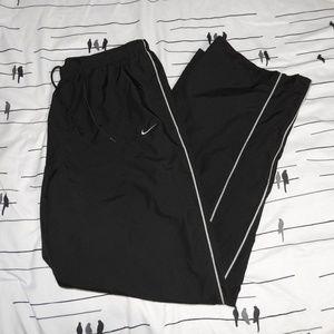 Vintage Nike Track Pants Black Large Mens